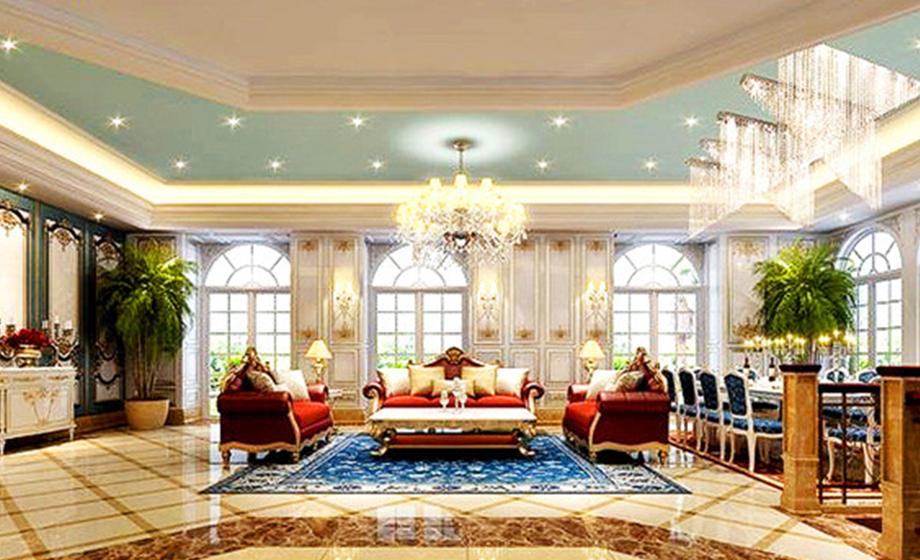 本案采用的是欧式古典风格,古典欧式风格是一种追求华丽、高雅的古典,本案家具最为完整的继承和表达了古典欧式风格的精髓,尤其是采用了罗奇堡家具为代表的古典欧式家具完整体现了古典欧式风格。本案着重张显奢华气派, 在本案的设计中比较注重背景色调,由墙纸、地毯、帘幔等装饰织物组成的背景色调对控制室内整体效果起了决定性的作用。
